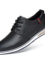 economico -Per uomo Scarpe Nappa Autunno Comoda Sneakers Nero / Blu