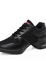 cheap -Women's Dance Sneakers Breathable Mesh Sneaker Low Heel Customizable Dance Shoes White / Black / Black / Red
