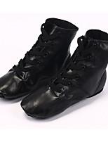 cheap -Women's Jazz Shoes PU Flat Performance / Practice Flat Heel Dance Shoes Black