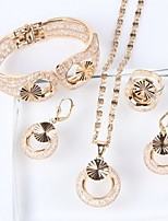 cheap -Women's Jewelry Set - Gold Plated Starfish, Mermaid Ethnic, Fashion, Oversized Include Bracelet Bangles / Hoop Earrings / Ring Gold For Wedding / Evening Party / Bridal Jewelry Sets
