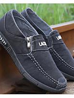 Недорогие -Муж. обувь Полотно Осень Удобная обувь Мокасины и Свитер Серый / Синий