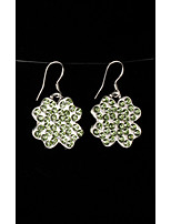 cheap -Women's Crystal Drop Earrings - Gold Plated Leaf, Clover Fashion Light Green For Gift / Date