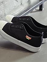 Недорогие -Девочки Обувь Полотно Весна Удобная обувь На плокой подошве для Дети на открытом воздухе Черный Серый Красный Розовый
