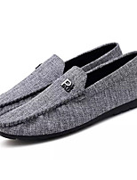 cheap -Men's Shoes Cowsuede Leather Summer Moccasin Loafers & Slip-Ons Black / Gray