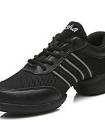 cheap -Women's Dance Sneakers Net / Leatherette Sneaker Chain Chunky Heel Customizable Dance Shoes Gray / Performance