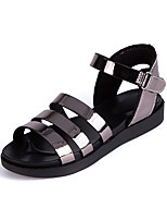 cheap -Girls' Shoes Leather Spring & Summer Comfort Sandals Buckle for Gold / Silver