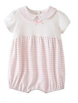 cheap -Baby Girls' Striped Short sleeves Romper
