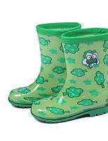 Недорогие -Девочки Обувь Кожа ПВХ  Весна лето Резиновые сапоги Ботинки для Зеленый / Синий / Розовый