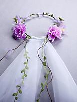 economico -2 strati Stile semplice / Boemia Veli da sposa Velo medio (ai fianchi) / Accessori per capelli Con Petali / Intagli 31,5 in (80cm) Tulle