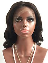 preiswerte -Unbehandeltes Haar Perücke Brasilianisches Haar Große Wellen Wellen Stufenhaarschnitt 180% Dichte Mit Babyhaar Für Damen dunkler Hautfarbe