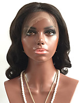 cheap -Virgin Human Hair Wig Brazilian Hair Body Wave Wavy Layered Haircut 180% Density With Baby Hair For Black Women Black Short Long Mid