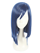 cheap -Synthetic Wig Straight Asymmetrical Haircut Synthetic Hair Cosplay Blue Wig Women's Short Capless / Yes