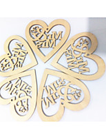 cheap -Wedding / Engagement Wooden Wedding Decorations Beach Theme / Garden Theme / Vegas Theme All Seasons