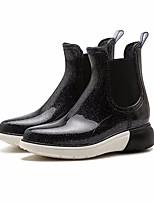 Недорогие -Жен. Обувь КожаПВХ Осень Резиновые сапоги Ботинки На плоской подошве Ботинки для Черный / Коричневый / Синий