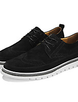 cheap -Men's Shoes Pigskin Spring Comfort Oxfords Black / Gray / Khaki