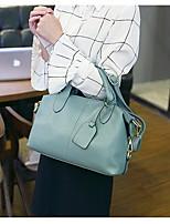 baratos -Mulheres Bolsas PU Tote Ziper para Compras / Escritório e Carreira Cinzento / Azul Céu / Vinho