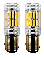cheap -2pcs 1157 / BAY15D(1157) Car / Motorcycle Light Bulbs 5W SMD 7020 33 LED Tail Light / Motorcycle Lighting / Turn Signal Light For