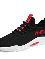cheap -Men's Shoes Tulle Fall Comfort Sneakers White / Black / Red