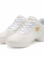 cheap -Women's Dance Sneakers Tulle Sneaker Low Heel Dance Shoes White / Black / Performance / Practice
