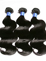 Недорогие -3 Связки Евро-Азиатские волосы Естественные кудри Натуральные волосы / Необработанные натуральные волосы Удлинитель / Пучок волос / One Pack Solution 8-28 дюймовый Нейтральный Естественный цвет