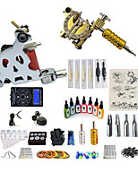 cheap -BaseKey Tattoo Machine Starter Kit - 2 pcs Tattoo Machines with 7 x 15 ml tattoo inks, Professional, Kits Alloy LCD power supply Case Not Included 20 W 2 alloy machine liner & shader