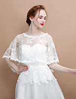 cheap -Sleeveless Knitwear / Lace Wedding / Birthday Women's Wrap With Ruffle Capelets