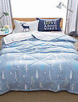 cheap -Comfortable - 1pc Bedspread Summer Microfiber Solid Colored / Geometric / Cartoon