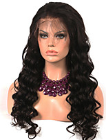 cheap -Remy Human Hair Wig Brazilian Hair Wavy 130% Density Long Women's Human Hair Lace Wig