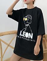 cheap -Women's Cotton T-shirt - Portrait / Summer