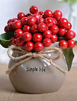 abordables -Fleurs artificielles 1 Une succursale Rustique Fruit Fleur de Table