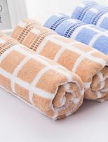 abordables -Qualité supérieure Serviette de bain / Serviette, Ecossais / à Carreaux Polyester / Coton Salle de  Bain