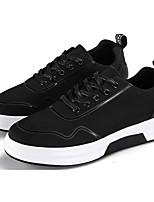 cheap -Men's Shoes Rubber Spring Comfort Sneakers Black / Silver / Black / White