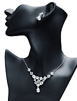 cheap -Women's Cubic Zirconia Jewelry Set - Drop Vintage Include Drop Earrings / Pendant Necklace White For Wedding / Gift