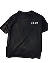cheap -women's t-shirt - letter round neck