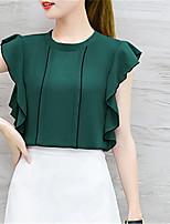 baratos -blusa feminina - decote redondo em cor sólida