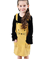 cheap -Kids / Toddler Girls' Cat Solid Colored Sleeveless Dress