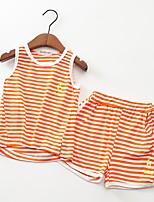 cheap -Kids Unisex Striped Short Sleeve Clothing Set