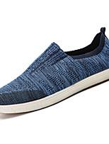 Недорогие -Муж. обувь Ткань Лето Удобная обувь Мокасины и Свитер для на открытом воздухе Черный Серый Синий