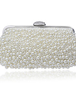 cheap -Women's Bags Pearl / Rhinestones Evening Bag Beading / Crystals for Wedding / Event / Party Champagne / White / Beige