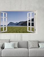 abordables -Autocollants muraux décoratifs / Autocollants de frigo - Autocollants muraux 3D Paysage / 3D Salle de séjour / Intérieur
