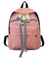 cheap -Women's Bags Canvas Backpack Pattern / Print / Sashes / Ribbons Black / Blushing Pink / Yellow