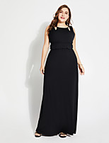 cheap -TS - Sweet Curve Women's Basic Boho Jalabiya Dress - Solid Colored