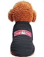 cheap -Dogs / Cats / Pets Shirt / T-Shirt Dog Clothes Animal / Cartoon / Quotes & Sayings Black Cotton Costume For Pets Male Sports & Outdoors /