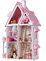 Недорогие -Кукольный домик Большой / Ручная работа Лошадь 1pcs Куски Детские / Взрослые Подарок