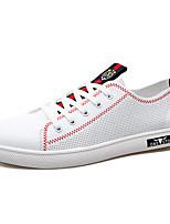 economico -Per uomo Scarpe PU (Poliuretano) Autunno Suole leggere Sneakers Bianco / Nero