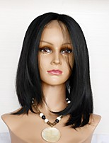 cheap -Human Hair Full Lace Wig Brazilian Hair Straight Density Simple / Normal / Life Natural Human Hair Lace Wig