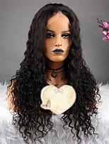 billiga -Remy-hår Peruk Brasilianskt hår Lockigt Frisyr i lager 130% Densitet Med Babyhår Naturlig Korta / Lång / Mellanlängd Dam Äkta peruker med