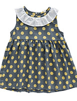 cheap -Kids / Toddler Girls' Polka Dot / Patchwork Sleeveless Dress