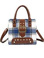 cheap -Women's Bags PU Shoulder Bag Rivet / Zipper Red / Gray / Yellow