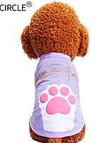 cheap -Dogs / Cats / Pets Shirt / T-Shirt Dog Clothes Print / Quotes & Sayings / Cartoon Purple / Pink Cotton Costume For Pets Male Casual /